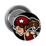 Roller Derby Jammer red Pinback Button
