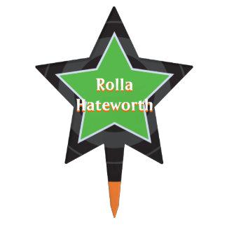 Roller Derby Jammer Star - Custom Cake Pick