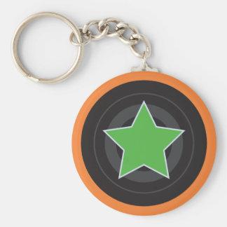 Roller Derby Jammer Star Basic Round Button Keychain