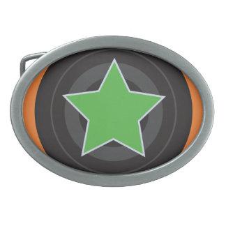 Roller Derby Jammer Star Oval Belt Buckle