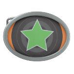 Roller Derby Jammer Star Oval Belt Buckles