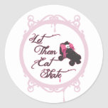 Roller Derby - Let Them Eat Skate Classic Round Sticker