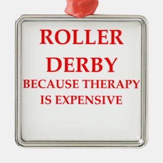 roller derby metal ornament
