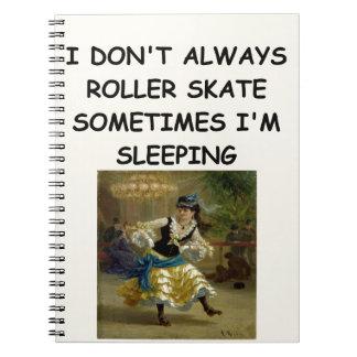 roller derby note book