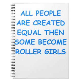 roller derby notebooks