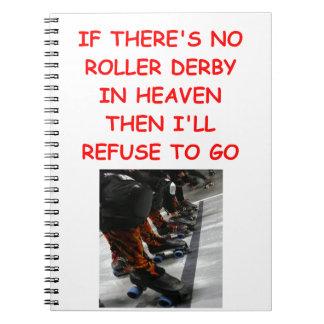 roller derby spiral note book