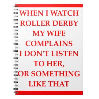 roller derby notebook