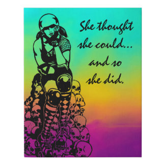 Roller Derby Poster Gift - 12x14 Faux Canvas