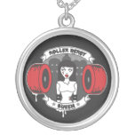 Roller Derby Queen *updated* Round Pendant Necklace