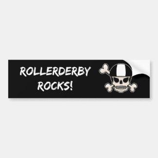 Roller Derby Rocks Bumper Sticker