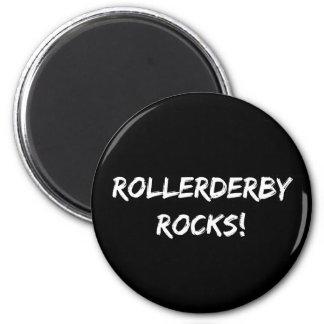 Roller Derby Rocks 2 Inch Round Magnet
