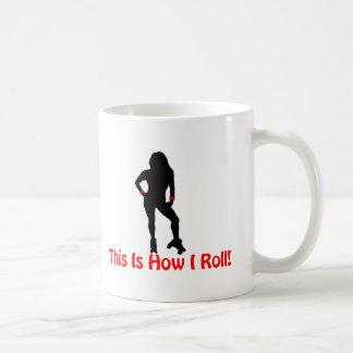 Roller Derby Roll Classic White Coffee Mug