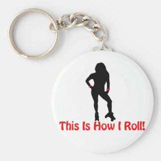 Roller Derby Roll Key Chains