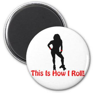 Roller Derby Roll Magnet