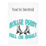 Roller Derby Roller Skating Custom Invitation