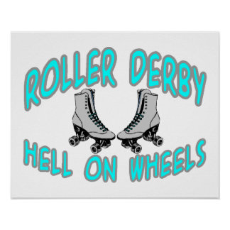 Roller Derby Roller Skating Poster
