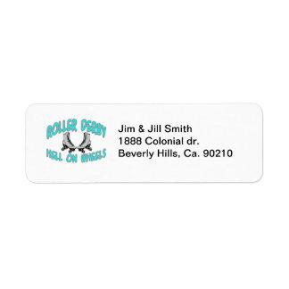 Roller Derby Roller Skating Return Address Label