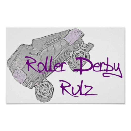 Roller Derby Rulz Poster