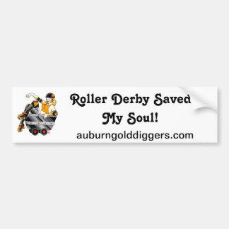 Roller Derby Saved My Soul bumper sticker