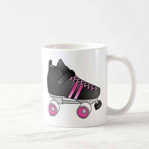 Roller Derby Skate Black and Pink Coffee Mug