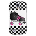 Roller Derby Skate Black and Pink Galaxy S4 Cases