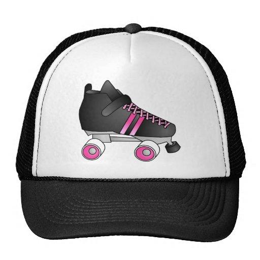 Roller Derby Skate Black and Pink Mesh Hats