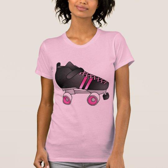 Roller Derby Skate Black and Pink T-Shirt