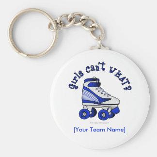 Roller Derby Skate - Blue Keychain