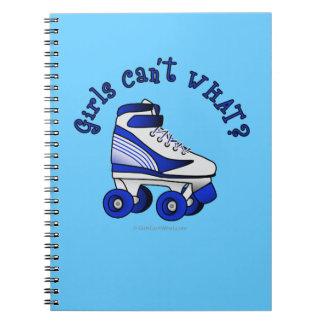 Roller Derby Skate - Blue Spiral Note Book