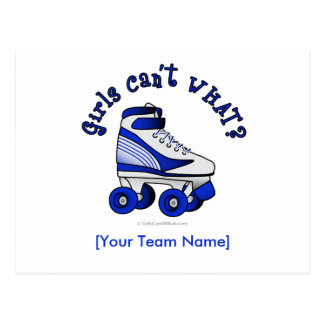 Roller Derby Skate - Blue Postcard