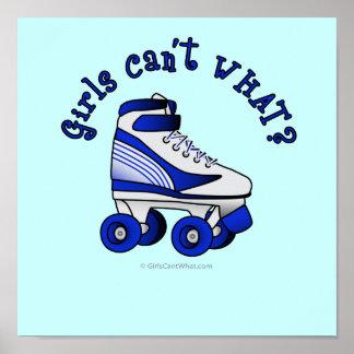Roller Derby Skate - Blue Posters