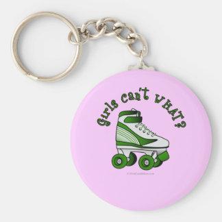 Roller Derby Skate - Green Keychain