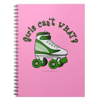 Roller Derby Skate - Green Notebooks