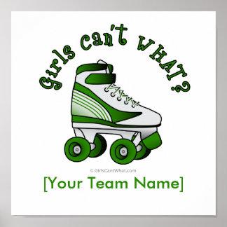 Roller Derby Skate - Green Print