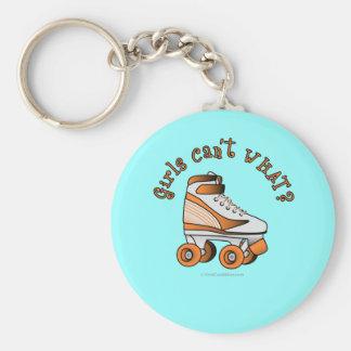 Roller Derby Skate - Orange Keychain