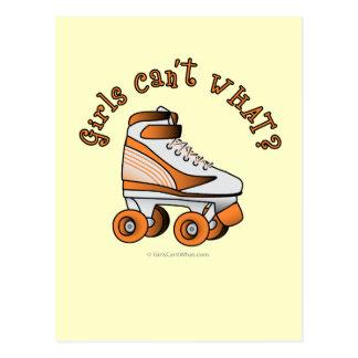 Roller Derby Skate - Orange Postcard