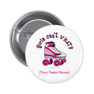 Roller Derby Skate - Pink Buttons