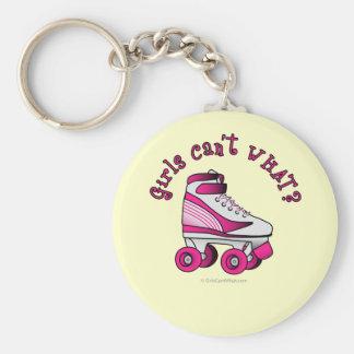 Roller Derby Skate - Pink Keychain