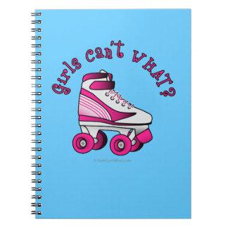 Roller Derby Skate - Pink Spiral Notebook