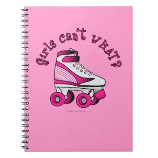 Roller Derby Skate - Pink Notebook
