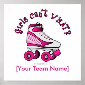 Roller Derby Skate - Pink Print