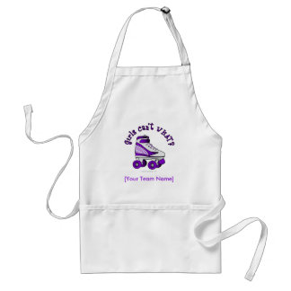 Roller Derby Skate - Purple Adult Apron