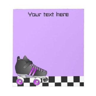 Roller Derby Skate Purple and Black Notepad