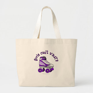 Roller Derby Skate - Purple Canvas Bag