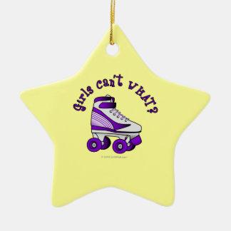 Roller Derby Skate - Purple Ceramic Ornament