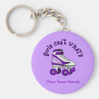 Roller Derby Skate - Purple Keychain