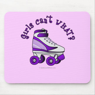 Roller Derby Skate - Purple Mouse Pad