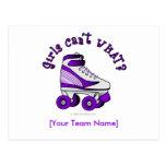 Roller Derby Skate - Purple Post Card