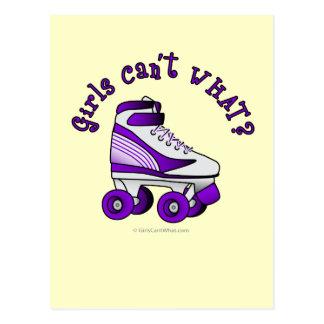 Roller Derby Skate - Purple Postcard