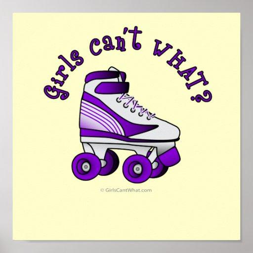 Roller Derby Skate - Purple Print